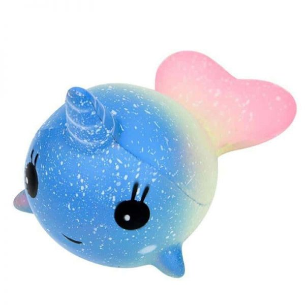 squichy unicorn whale blue at sell