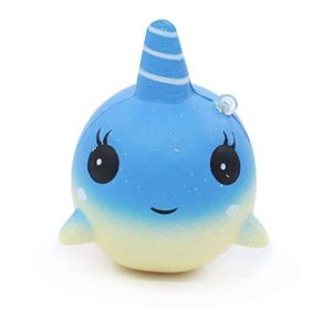 squichy unicorn whale blue price