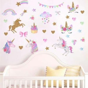 stickers unicorn bedroom baby