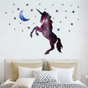stickers unicorn black decoration unicorn