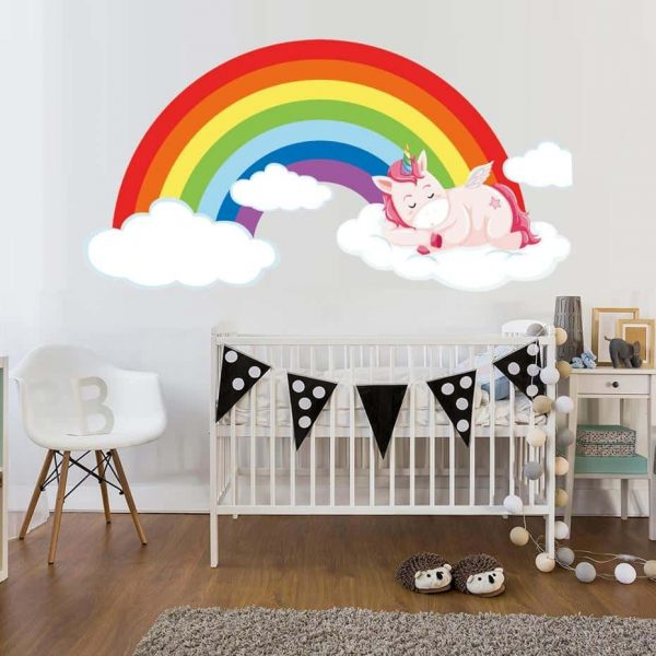 stickers unicorn bow in sky decoration unicorn