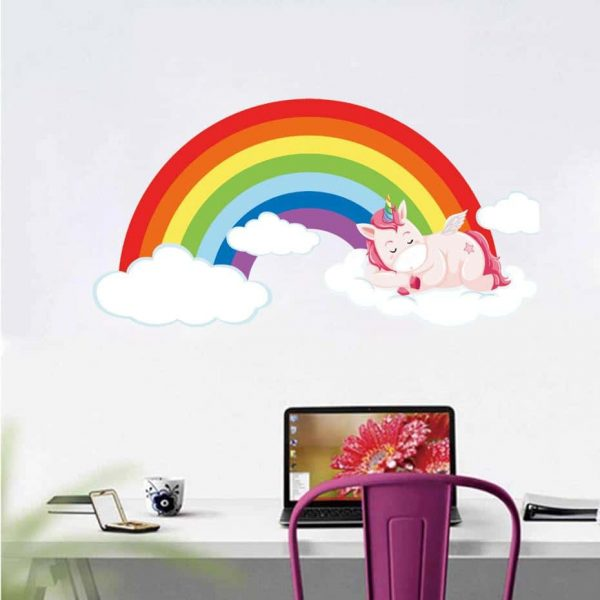 stickers unicorn bow in sky price