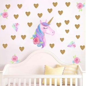 stickers unicorn golden at sell
