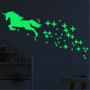 stickers unicorn luminescent blue price