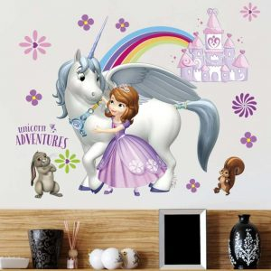 stickes unicorn bow in sky decoration unicorn