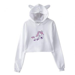 sweat unicorn crop top angry l buy