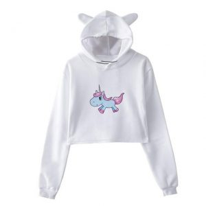 sweat unicorn crop top blue and pink mr unicorn backpack store