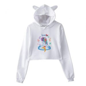 sweat unicorn crop top dreams xxl sweat unicorn