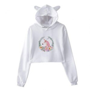 sweat unicorn crop top flowers xxl at sell