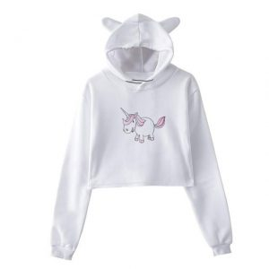 sweat unicorn crop top kawaii xl buy