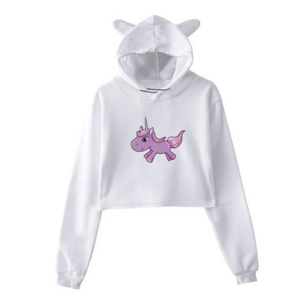 sweat unicorn crop top mauve xxl sweat unicorn