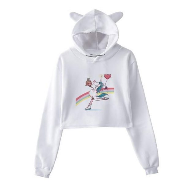 sweat unicorn crop top skate s sweat unicorn