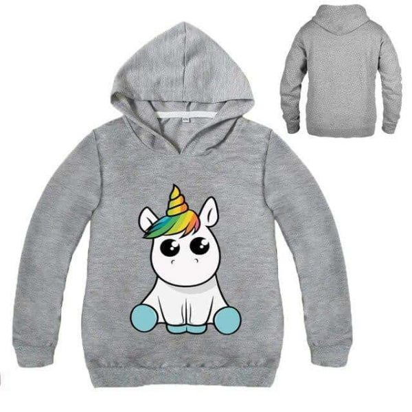 sweat unicorn kawaii grey 14 sweat unicorn