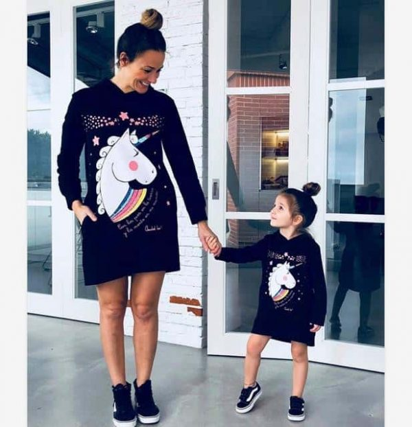 sweat unicorn mother girl child 3 years clothing unicorn