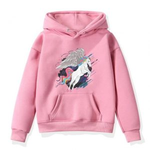 sweat unicorn portal pink at hood 14t not dear