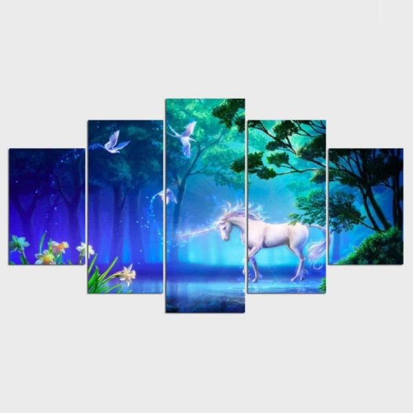 table unicorn bedroom child 40x60 40x80 40x100cm with frame at sell