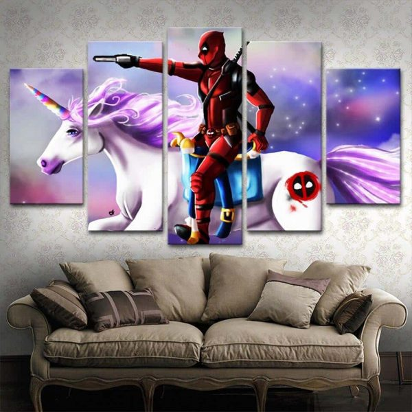 table unicorn dead pool 30x50 30x70 30x80cm without frame unicorn backpack store
