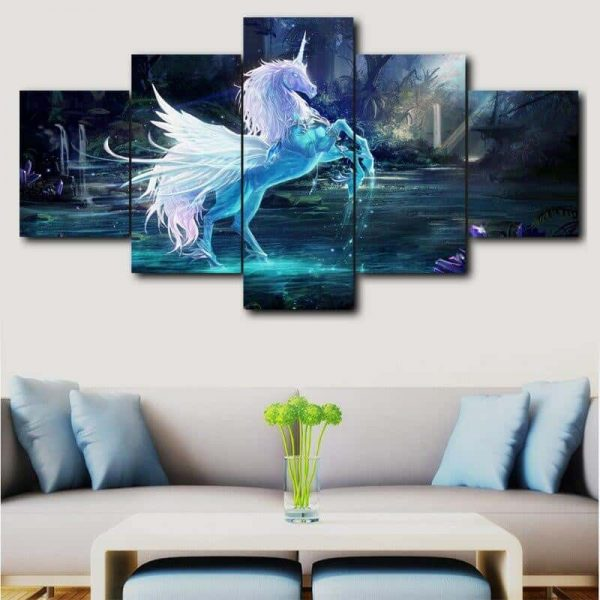 table unicorn giant 16x24 16x32 16x40 in with frame not dear