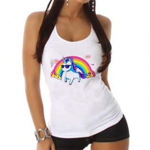 tank top unicorn bow in sky xxl