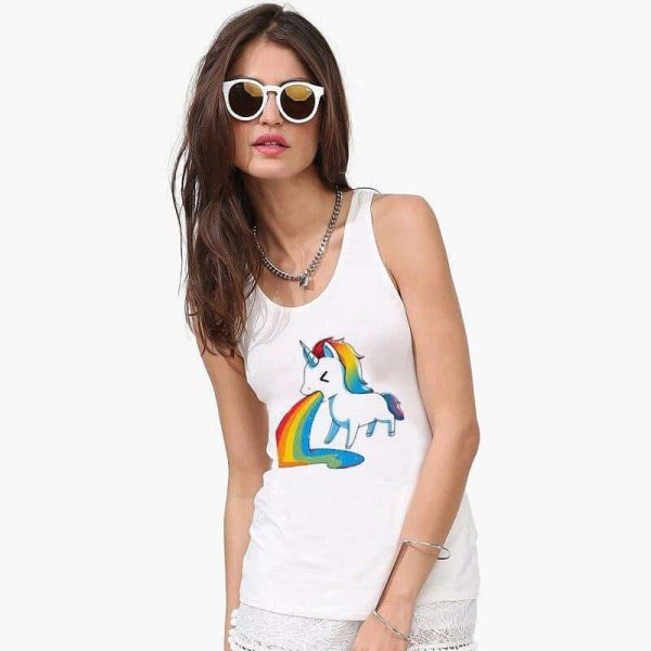 tank top unicorn throws up bow in sky xxl buy