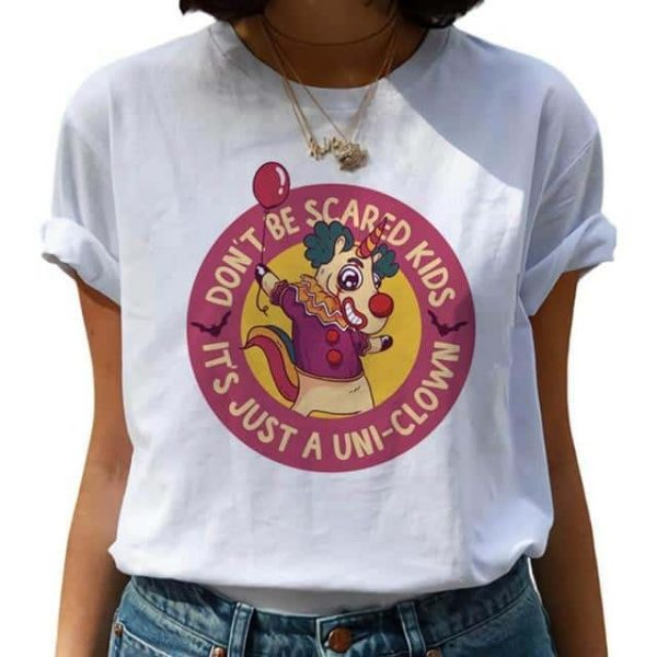 tee shirt unicorn clown s not dear