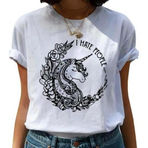 tee shirt unicorn i hated the people l at sell