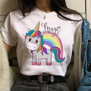 tee shirt unicorn kawaii bow in sky xl t shirt unicorn