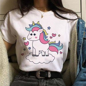 tee shirt unicorn picture kawaii xs