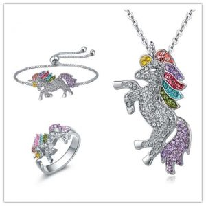 together unicorn ring bracelet and pendant unicorn not dear