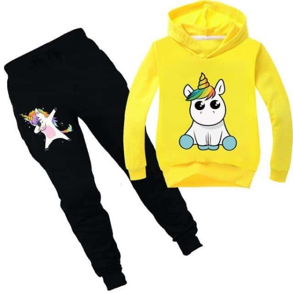 together unicorn tracksuit yellow kawaii 14 no dear