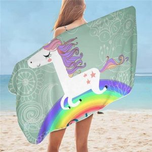towel unicorn bow in sky holiday
