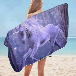 towel unicorn purple buy