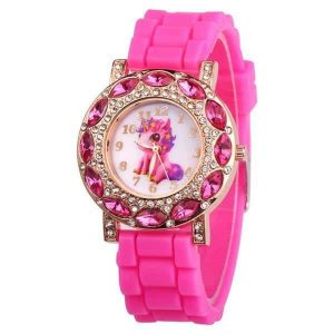 watch unicorn girl pink candy